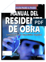 Manual Del Residente de Obra
