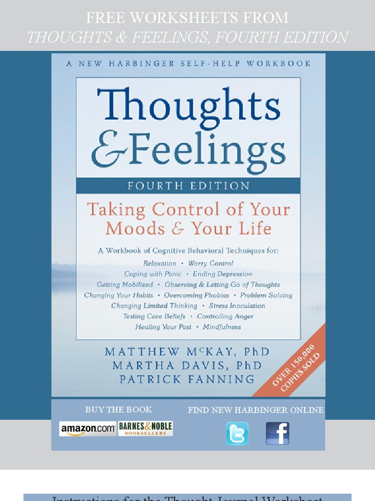 Thoughts and Feelings, 4th edition - sample worksheets | Anxiety