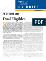 A Brief on Dual Eligibles