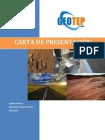 CARTA DE PRESENTACIÓN GEOTEP S.A.C.