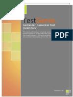 TestGenie Santander Numerical Reasoning Test Practice