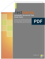 TestGenie Santander Numerical Reasoning Test Practice