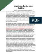 ALQUIMIA NO EGITO E ARÁBIA