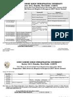 BBA-GENERAL Date Sheet December 2011-January 2012