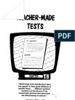 Teacher Made Tests