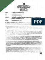 CIRCULAR SESION15 Nov, ACTA 036 -  2011 CONSEJO ACADEMICO - UNIVERSIDAD DISTRITAL.