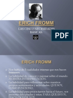 ERICH FROMM 5 necesidades