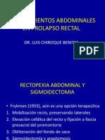 Abdominal Prolapso Rectal