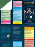 Programa del Segundo Congreso de Danzantes de Tijeras