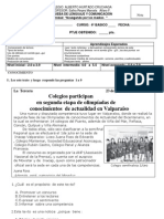 COLEGIO  ALBERTO HURTADO CRUCHAGA Prueba de lenguaje  4ºA Y B  AGOSTO 2011