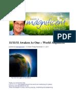11-11-11 Awaken as One - World Alignment