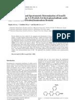 Traced Iron Determination Ferrozine