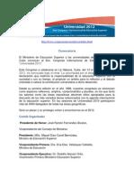 8CongresoIntEdSuperior-Universidad2012