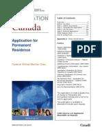 EG7 Application for Permanent Residence (Canada)