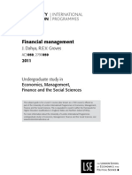 Financial Management Subject Guide