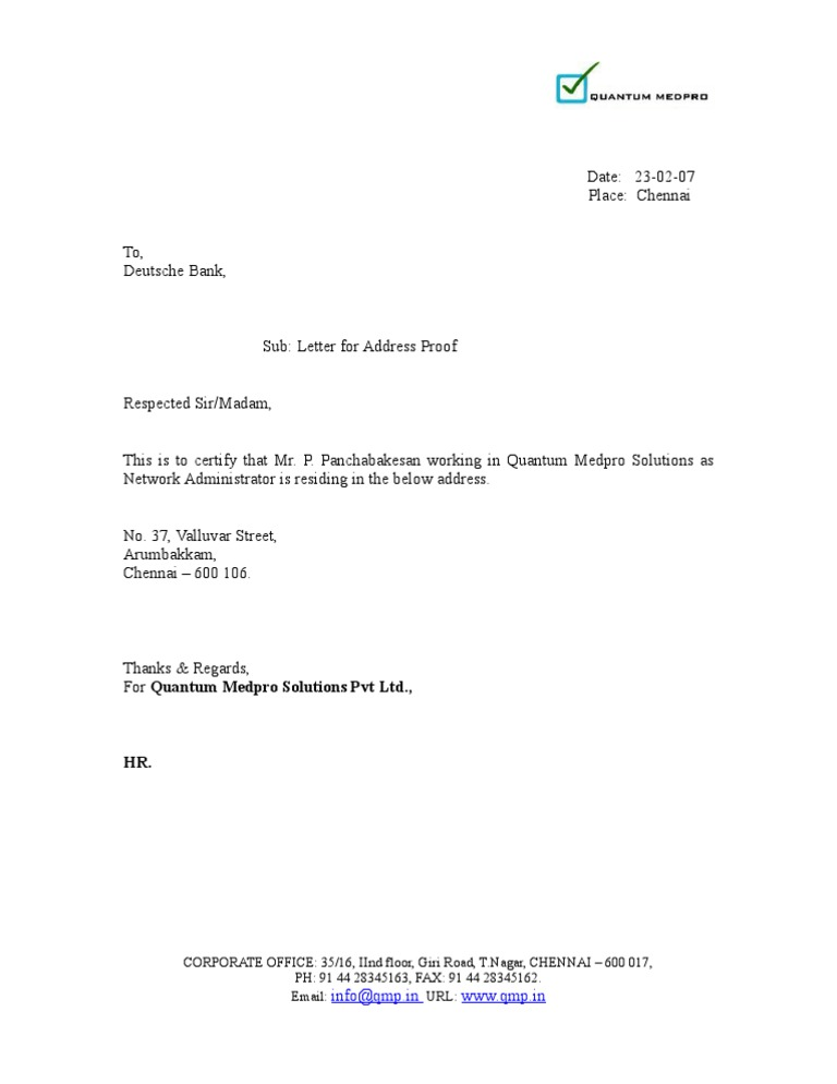 proof of residency letter uk address proof letter 12279