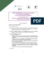 Cine e Investigación - Primer Encuentro Nacional [Programa]