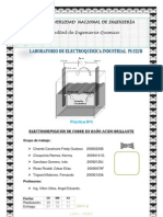 Electrodeposición de cobre en baño ACIDO BRILLANTE1