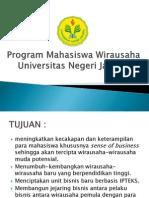 Presentasi Program Mahasiswa Wirausaha 2011