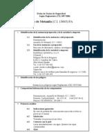 Ficha de Datos de Seguridad Amarillo Metanil