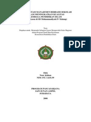 Jurnal Manajemen Pendidikan Islam