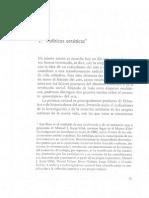 Jacqes Ranciere - Políticas estéticas