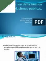 Planeación de la función de las relaciones públicas