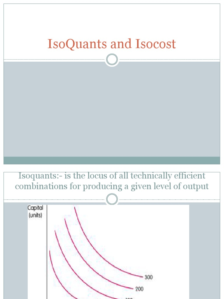 IsoQuants and Isocost | Labour Economics | Economics ...