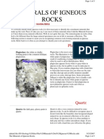 The Minerals of Igneous Rocks