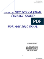 3 Case Study CA Final Direct Taxes May 2010