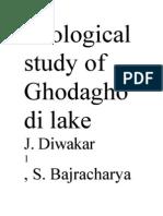 Ecological Study of Ghodaghodi Lake