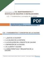 UD 1 Fundamentos y Conceptos de Calidad