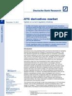 OTC Current Regulatory Initiatives Nov 2011