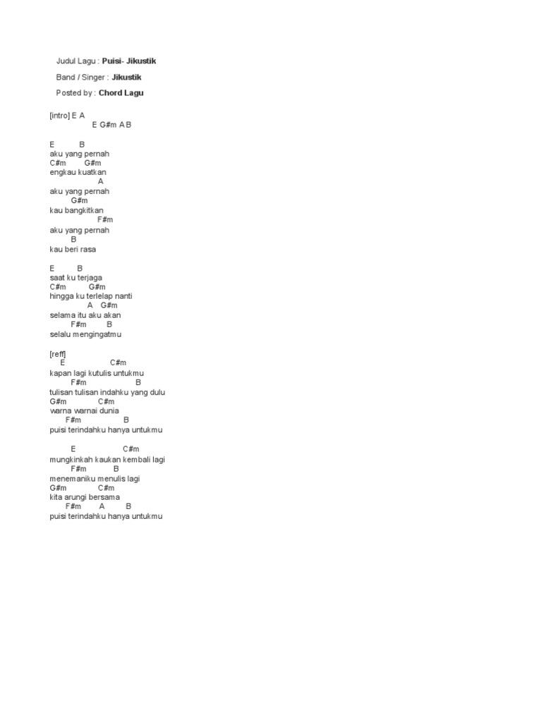 Puisi Lirik Dan Kunci Koleksi Puisi