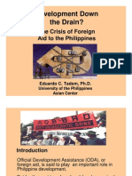 The Phil ODA Crisis 2007 by UP Professor Eduardo Tadem