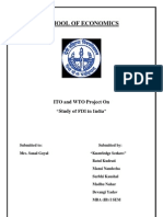 ITO and wto fdi
