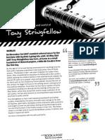 Tony Stringfellow Press Sheet