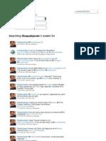My tweets between April and November 2011