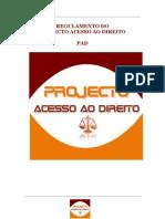 REGULAMENTO DO PROJECTO ACESSO AO DIREITO