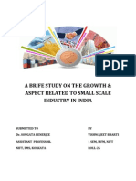 A Brife Study on the Growth of Small Scale Industry New
