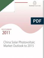 China Solar Photo Voltaic Market Report