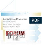 Focus Group Discussion