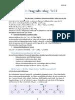 Anorganische Chemie II - Fragenkatalog - Teil I