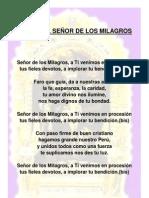 HIMNO DEL SEÑOR DE LOS MILAGROS