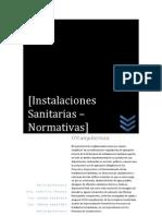NORMATIVA  PARA  INSTALACIONES  SANITARIAS