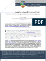 Corruption & Afghanistan's Education Sector
