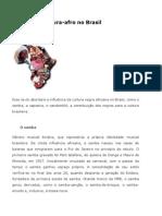 Influência Cultura-afro no Brasil