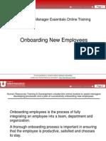 On Boarding New Employees