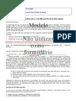 Modelo petição classificação fiscal de mercadoria