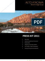 Alto Atacama Desert Lodge & Spa - PRESS KIT 2011